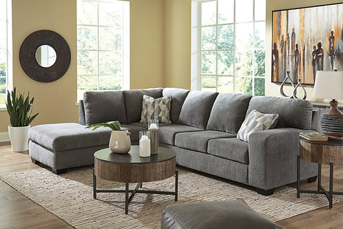 Dalhart Charcoal Gray LAF Sectional