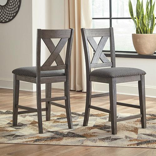 Caitbrook Gray Upholstered Barstools