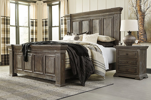 Wyndahl Rustic Brown Panel Bed