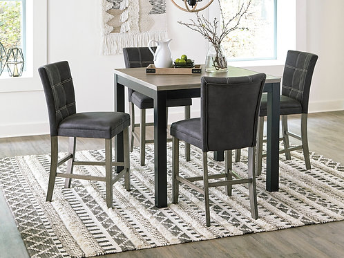 Dontally Two-Tone Counter Table & 4 Barstools