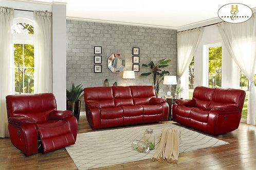 Pecos Red Reclining Sofa & Loveseat