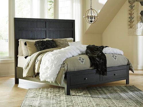 Noorbrook Black Queen Platform Bed