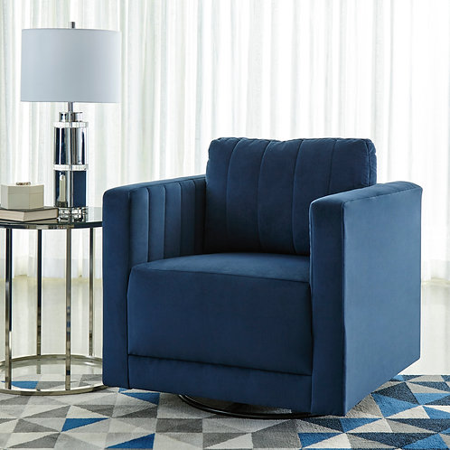 Enderlin Blue Ink Swivel Accent Chair
