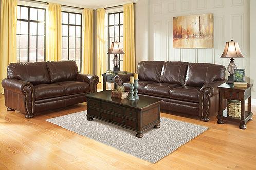 Banner Coffee Leather Sofa & Loveseat