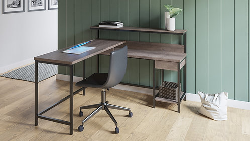 Arlenbry L-Desk with Storage
