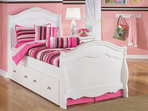 Exquisite Twin or Full Sleigh Bed