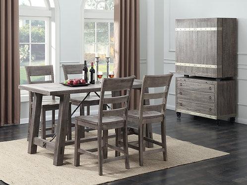 Dakota Counter Height Table & 4 Barstools