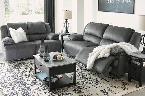 Clonmel Charcoal Reclining Sofa OR Loveseat
