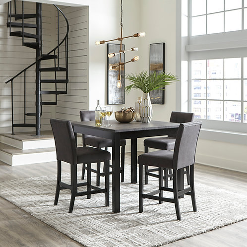 Garvine Two-Tone Counter Table & 4 Barstools