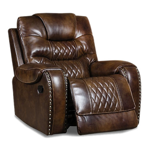 Bailey Vintage Caramel Leather Recliner