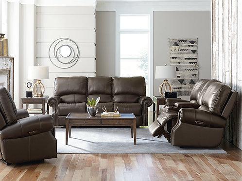 Prescott Espresso Top Grain Leather Full Power Reclining Sofa OR Loveseat