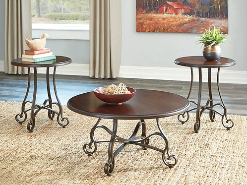 Carshaw Brown 3-in-1 Table Set