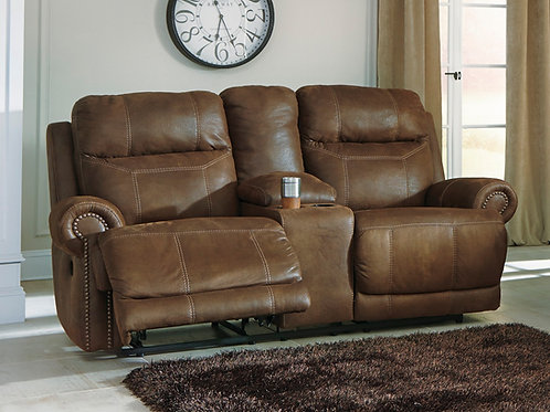 Austere Canyon Reclining Loveseat with Console