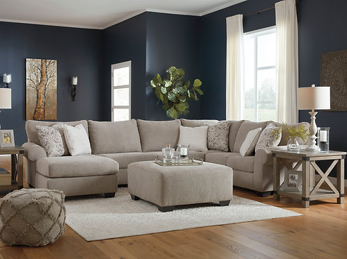 Baranello Stone 3-PC Sectional (LSF Chaise)