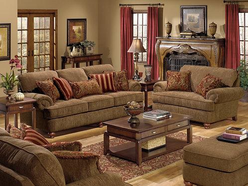 Belmont Umber Sofa & Loveseat