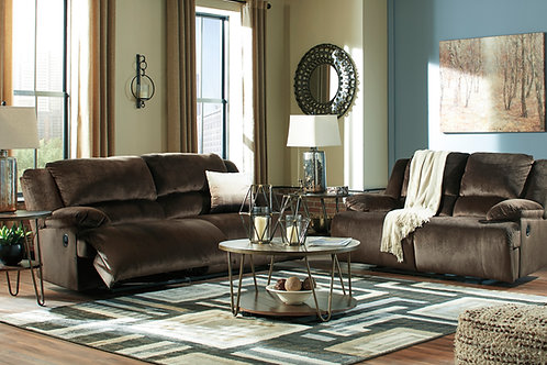 Clonmel Chocolate Reclining Sofa & Loveseat