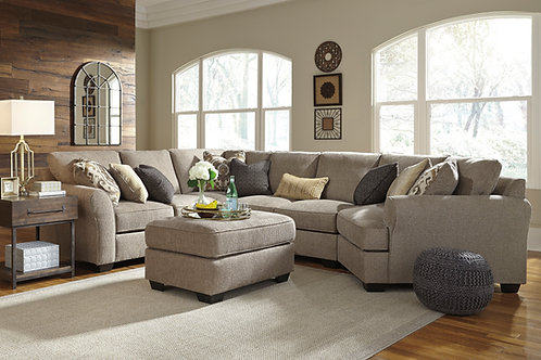 Pantomine Driftwood 4 PC Sectional with Cuddler