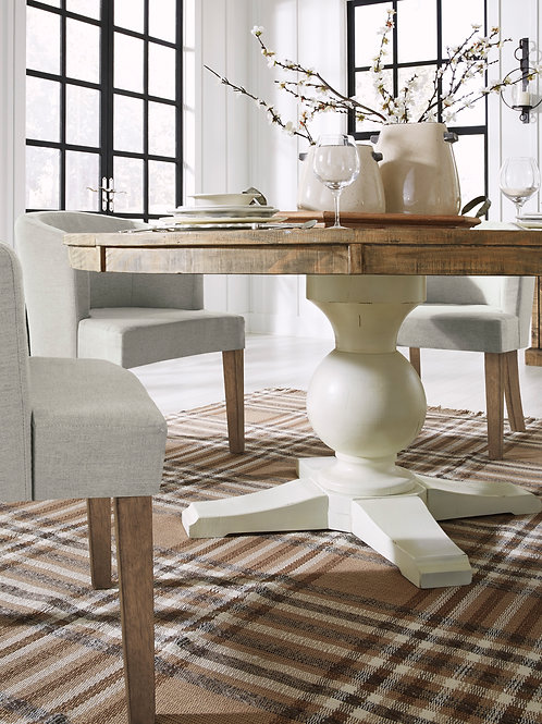 Grindleburg Two-Tone Round Pedestal Table