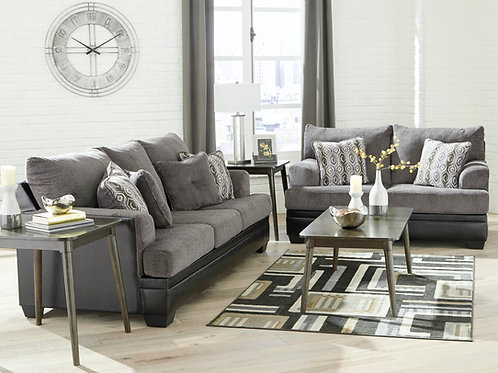 Millingar Smoke Sofa & Loveseat