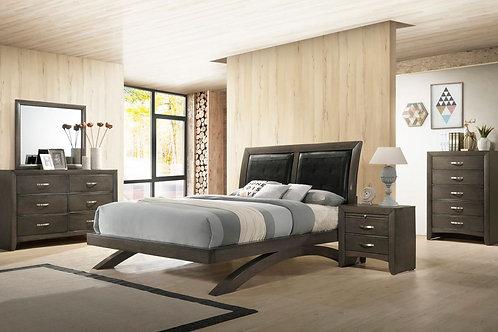 Galinda Gray Platform Bedroom Set