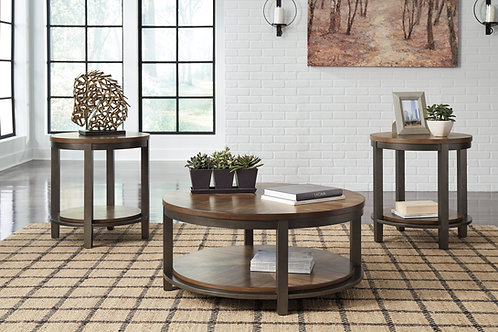 Roybeck Light Brown 3-in-1 Occasional Table Set