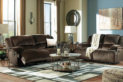 Clonmel Chocolate Reclining Sofa OR Loveseat
