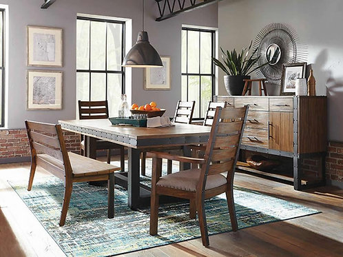Atwater Dining Table, 4 Chairs, & Bench