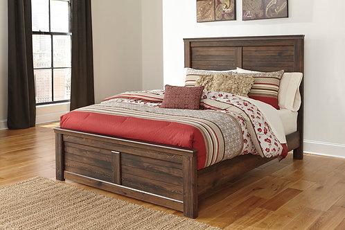 Quinden Brown Panel Bed