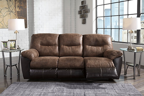 Follet Coffee Reclining Sofa