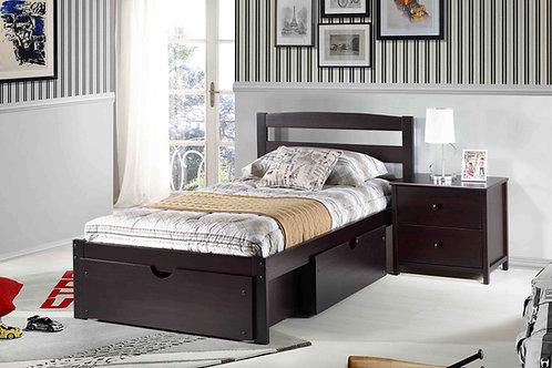 Berkley Espresso Twin Bed
