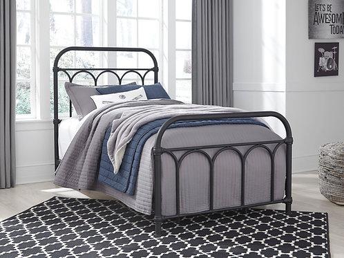 Nashburg Twin Black Metal Bed