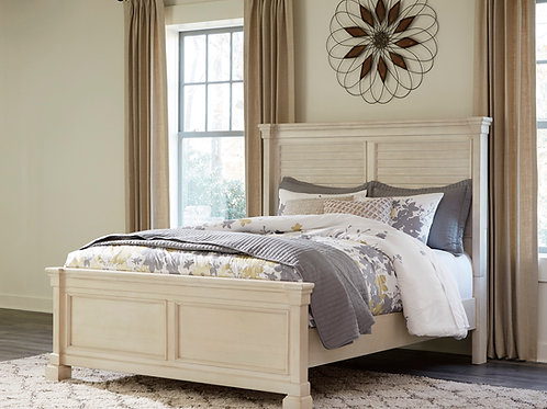 Bolanburg Antique White Louvered Queen Bed