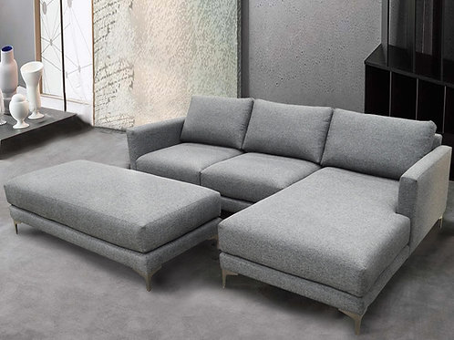 Alissa Pepper Sectional w/RSF Chaise