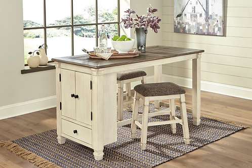 Bolanburg Table & Two Backless Barstools