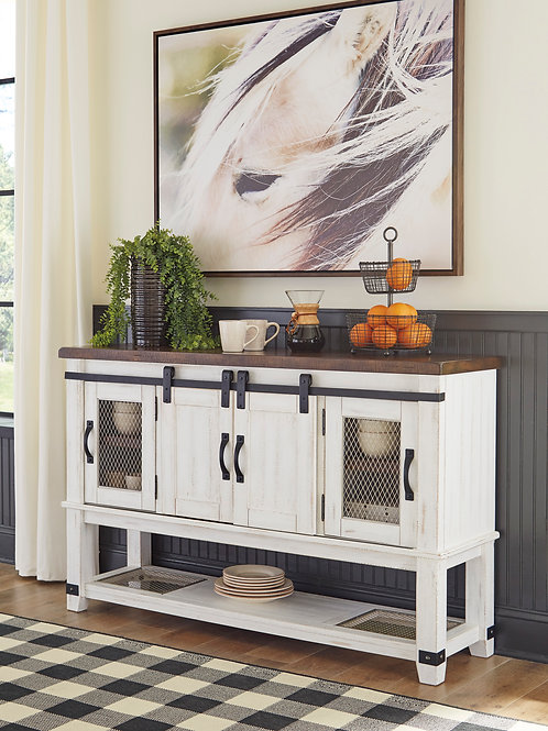 Valebeck Two-Tone Dining Room Server