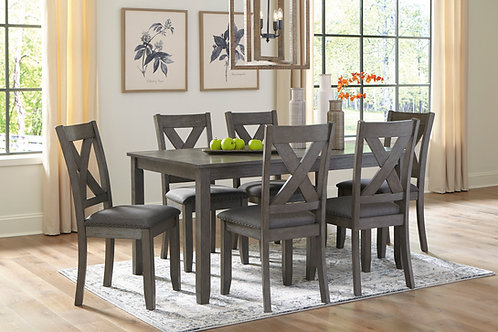 Caitbrook Gray Dining Table & 6 Chairs