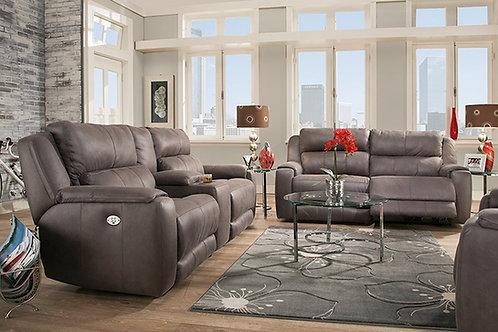 Dazzle Slate Custom Reclining Sofa & Loveseat