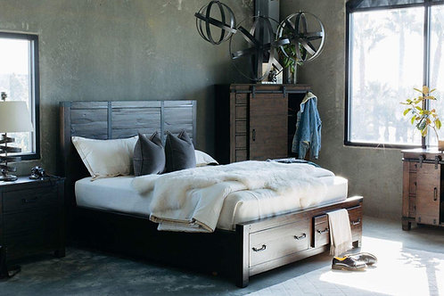 Pine Hill Solid Wood Platform Storage Bed