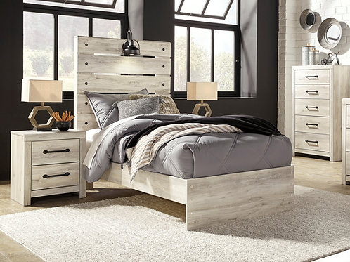 Cambeck Whitewash Rustic Youth Bed