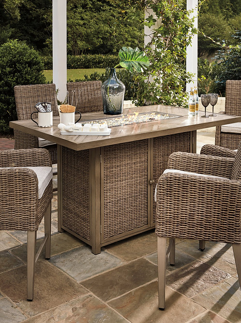Beachcroft Outdoor Fire Pit Dining Table