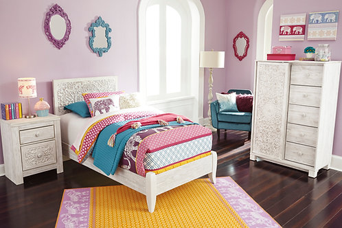 Paxberry White Washed Twin Bed