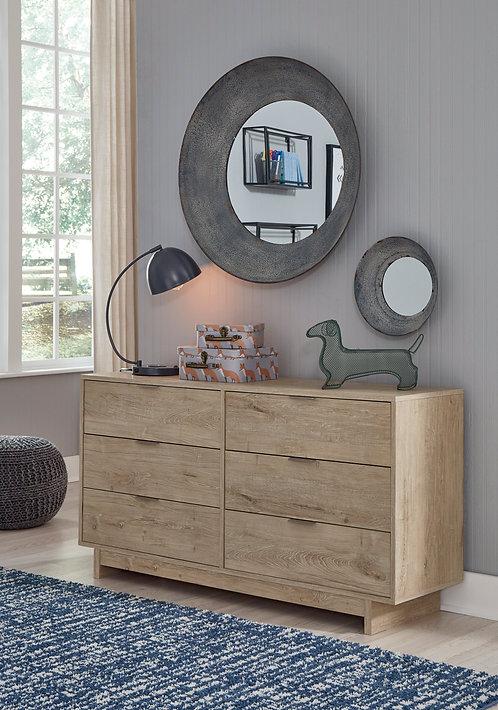 Oliah Natural 6-Drawer Dresser