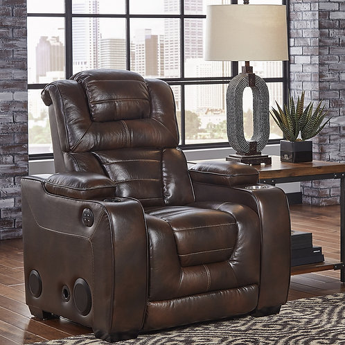 Manhattan Godiva Power Leather Recliner