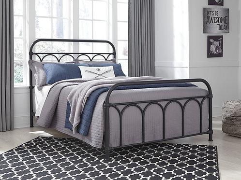 Nashburg Full Black Metal Bed
