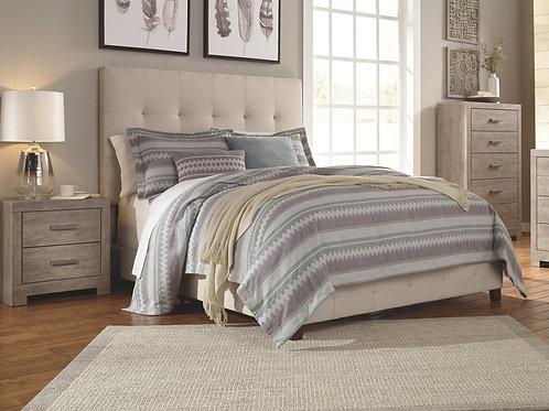Dolante Beige Upholstered Queen Bed