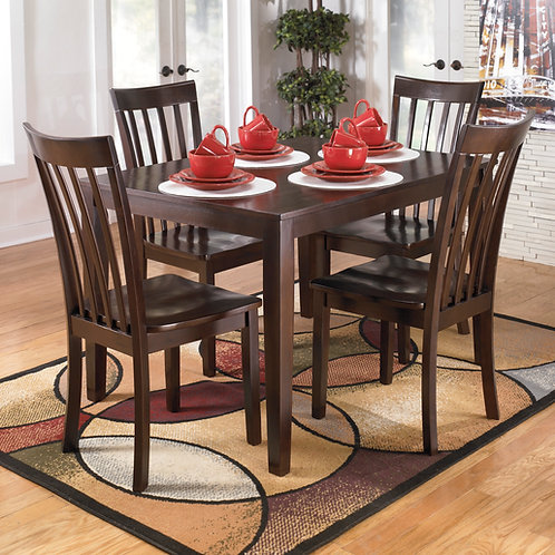 Hyland Brown Dining Table & 4 Chairs