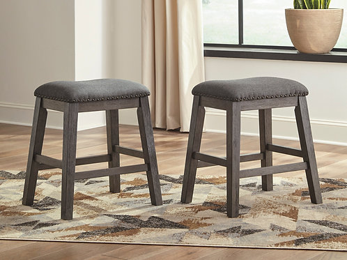 Caitbrook Gray Upholstered Stools