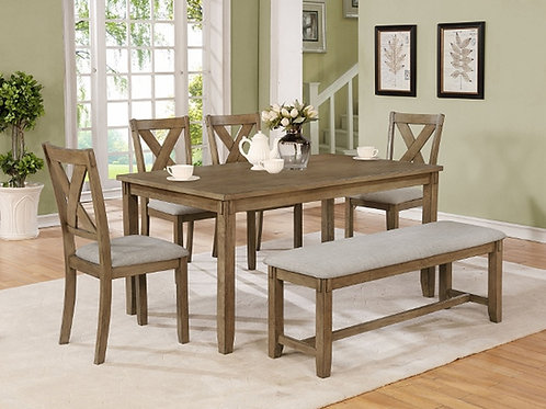 Clara Wheat Dining Table & 4 Chairs