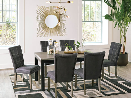 Dontally Two-Tone Table & 6 Chairs