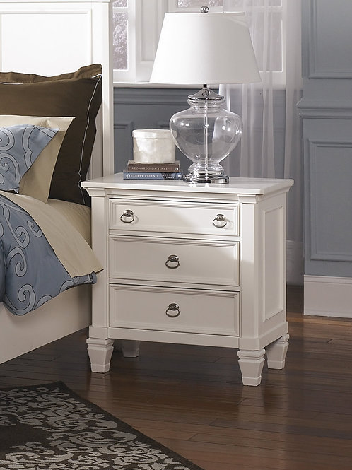 Prentice White Nightstand
